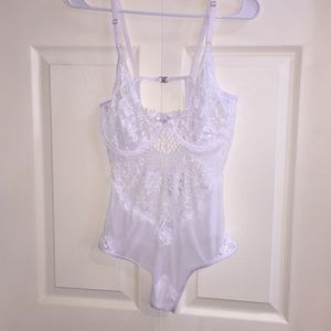 Other - White lace sheer bodysuit